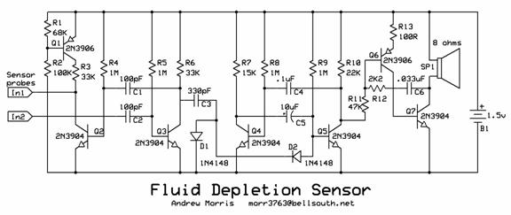fluid depletion sensor circuit designed by andrew r  morris