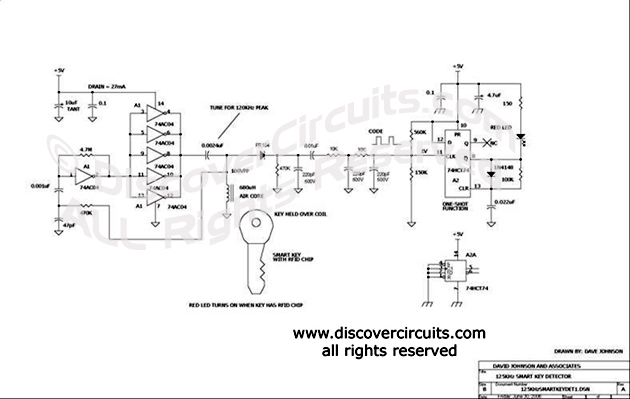 circuit 125khz wireless smart key detector circuit designed by rh discovercircuits com