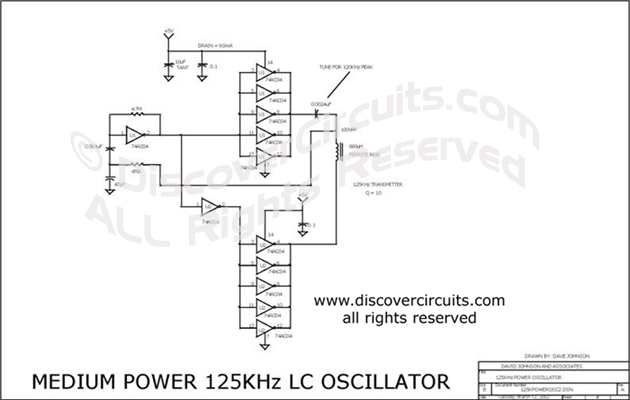 Circuit Cmos Inverter 125khz Lc Oscillator Circuits Designed By