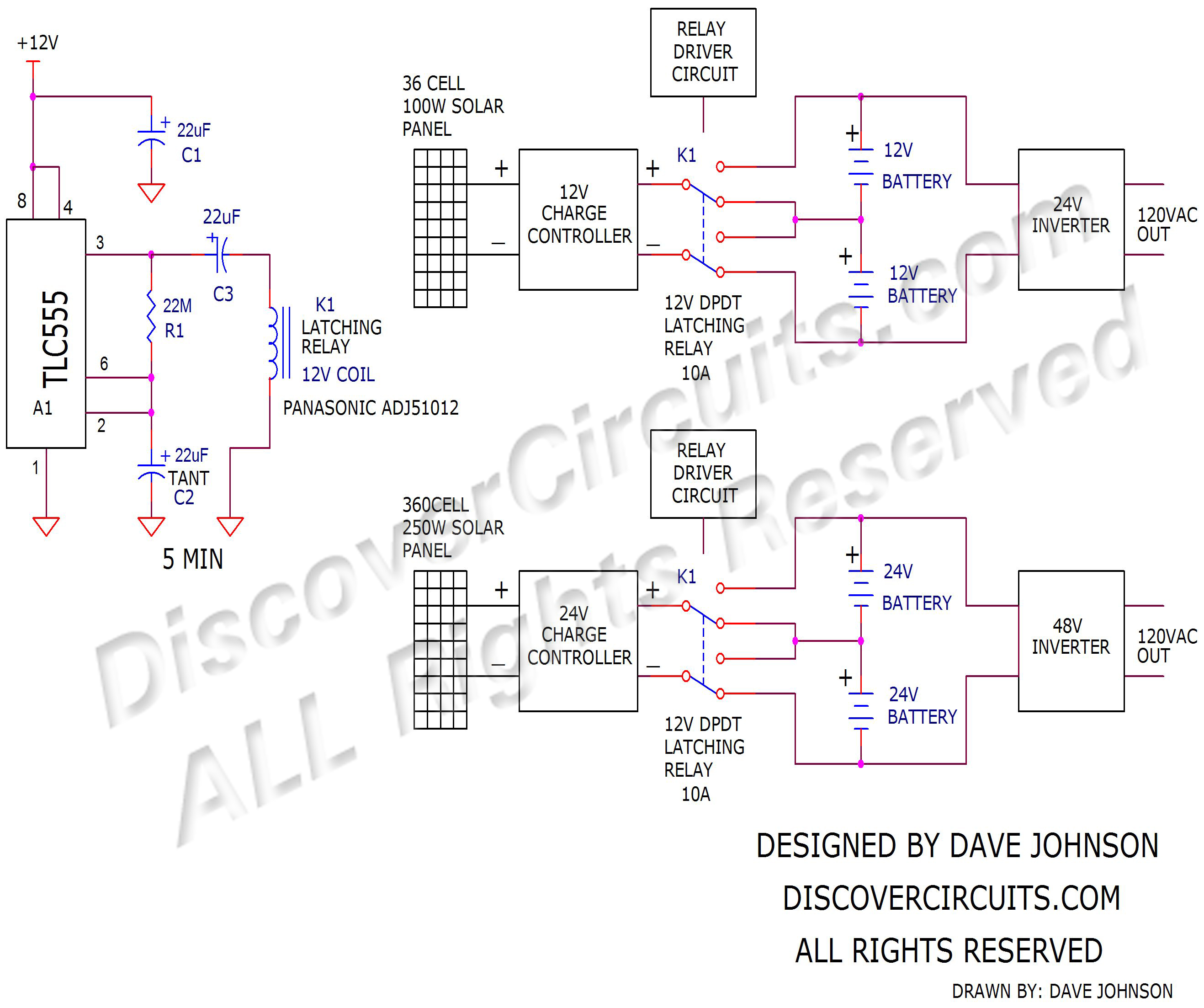 9v solar panels converted to 4 5v panels circuit designed by rh discovercircuits com