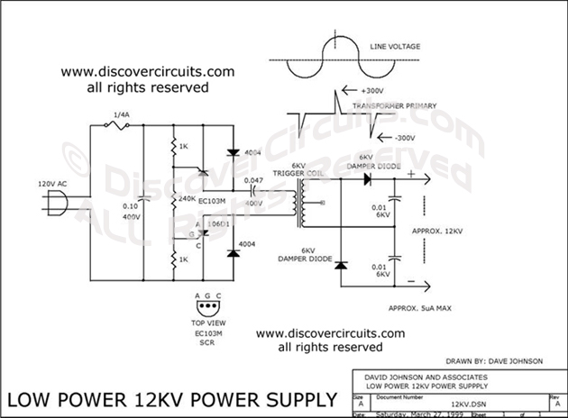 circuit high voltage generator 12v hobby circuit rh discovercircuits com High Voltage Static Generator Sine Wave Generator Circuit Diagram