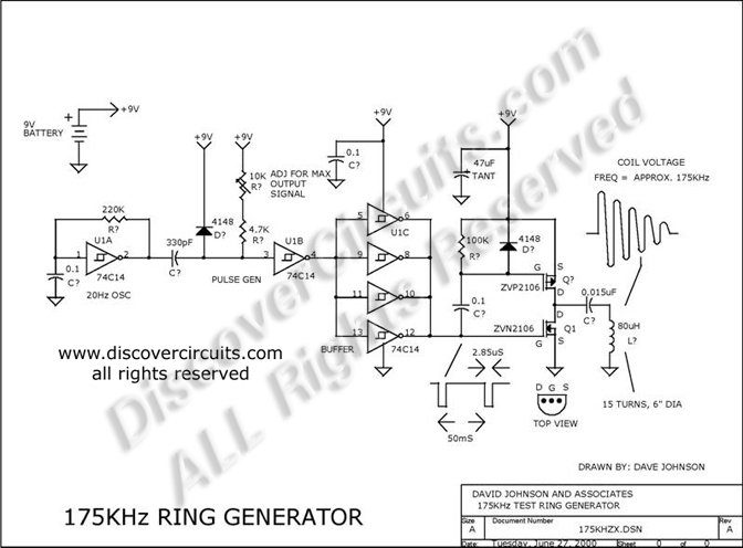 circuit  175khz inductive pulse transmitter    circuit