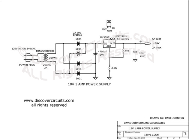 Circuit: 8v AC to DC Power Supply__ Circuit designed by ... on