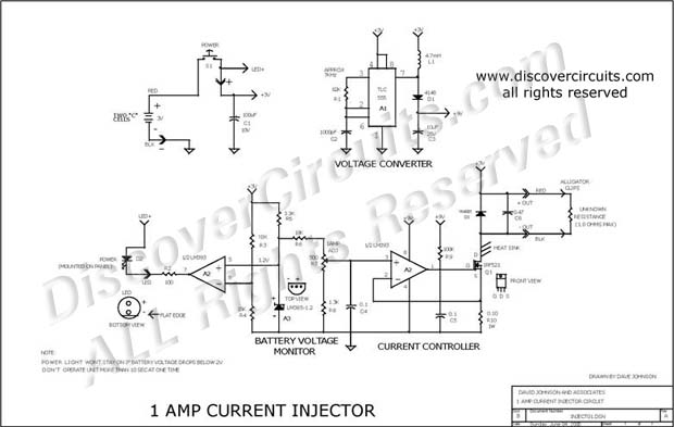 circuit  1 amp current injector