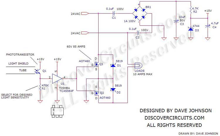 24 VAC Day-Night Switch designed by Dave Johnson, P.E.