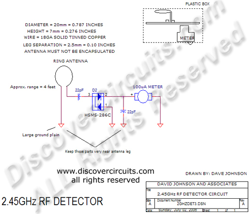 hobby circuit 2 45ghz rf signal detector circuit designed by rh discovercircuits com Electronic Circuit Schematic Diagrams Basic Circuit Schematics