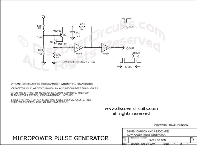 Circuit micropower pulse generator electronic circuits designed by circuit micropower pulse generator electronic circuits designed by david a johnson pe cheapraybanclubmaster Images