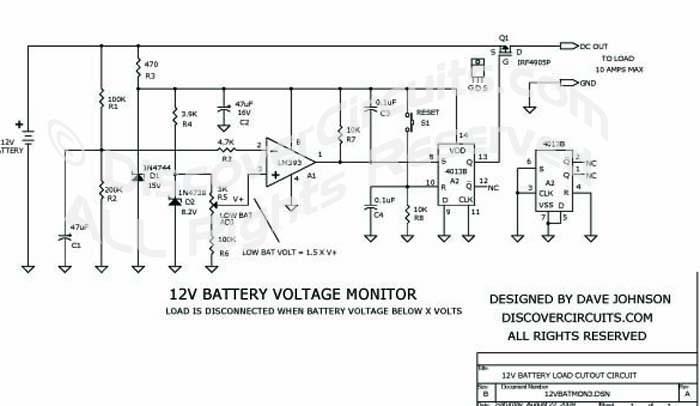 circuit  12v battery load cutout circuit
