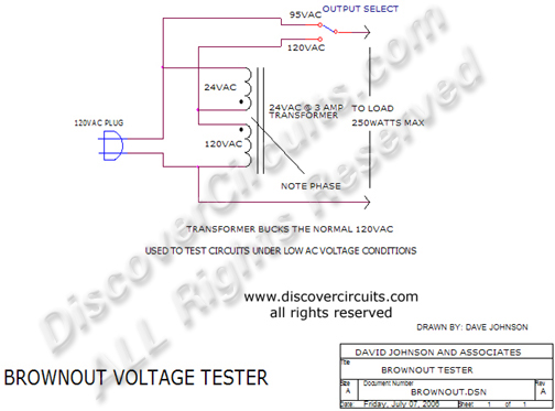 Circuit Brown Voltage Tester