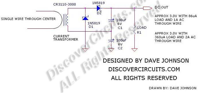 circuit   380energy harvesting using a current transformer