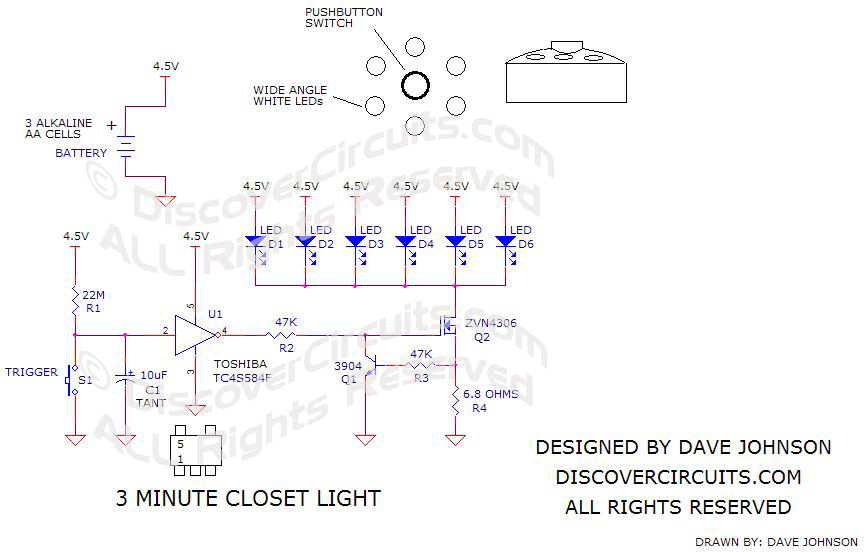 3 Minute LED Closet Light designed by Dave Johnson, P.E.