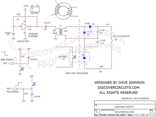Circuit Isolated Remote Switch Schematic