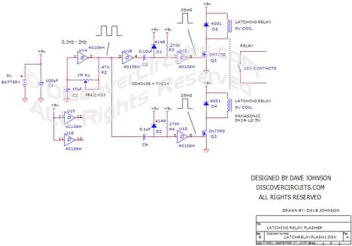 Circuit Universal Flasher Circuit Using A Latching Relay