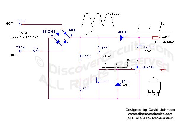 circuit solutions non isolated off line ac to dc power supply by rh discovercircuits com Power Supply Wiring Diagram Computer Power Supply Diagram