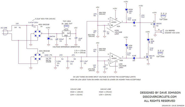 hobby circuit  over voltage alarm