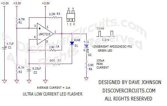 Ultra Low LED Flasher #3designed by David Johnson