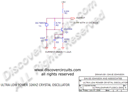 ultra low power 32khz crystal oscillator rh discovercircuits com