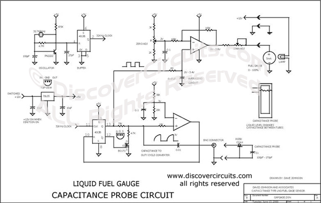 Circuit Capacitance Type Liquid Level Monitor Designed Rhdiscovercircuits: Fuel Meter Schematic At Elf-jo.com