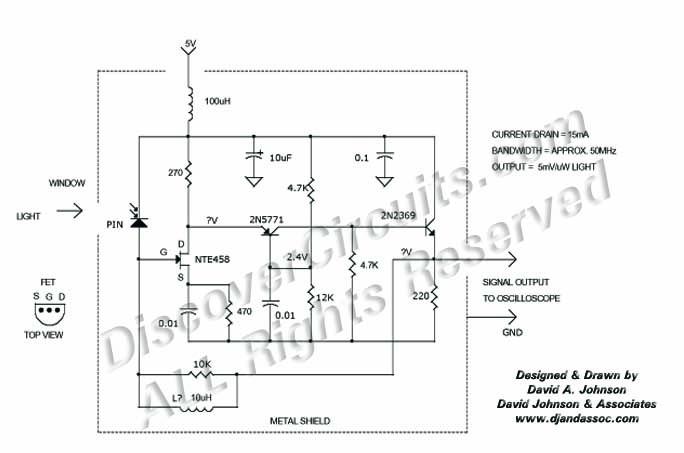 Hobby Circuit - FET INPUT HIGH SPEED LIGHT DETECTOR __ Circuit s ...