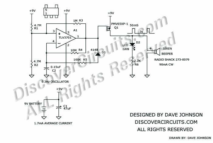 Terrific Circuit 389Very Loud Pulsating Beeper Keeps Average Dc Current Wiring Cloud Strefoxcilixyz