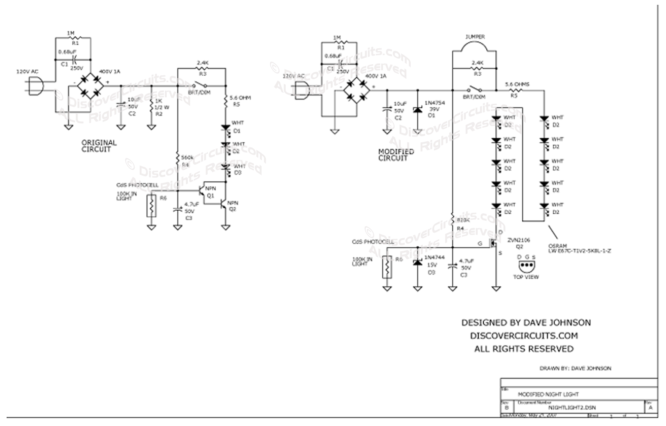 Led light schematic trusted wiring diagram circuit modified led night light led wiring schematic circuit modified led night light by david johnson asfbconference2016 Choice Image