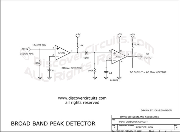 circuit precision ac peak detector circuit designed by david a rh discovercircuits com