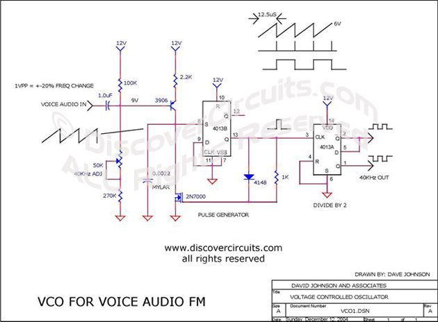Surprising Circuit 40Khz Voltage To Frequency Converter Circuit Designed By Wiring Database Gramgelartorg
