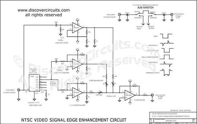 Circuit Video Signal Edge Enhancements designed by David A. Johnson, P.E.