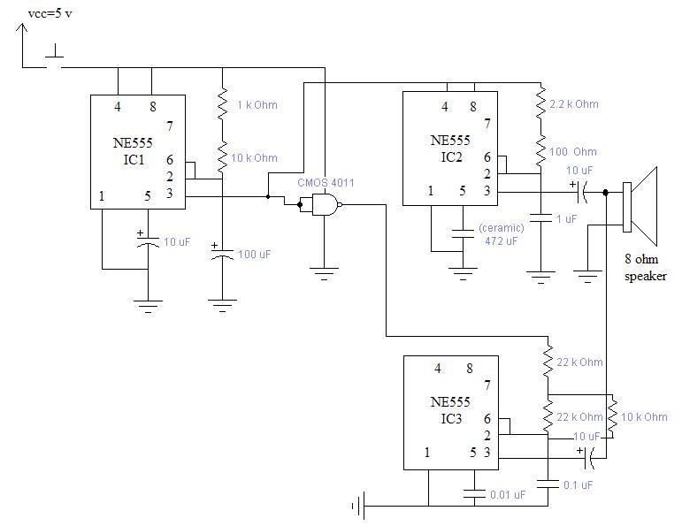 Twotonegenerator door bell circuits electronics tutorial and schematics Doorbell Wiring-Diagram Two Chimes at mifinder.co