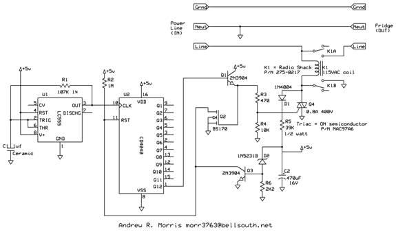 fridge saver circuit by andrew r  morris